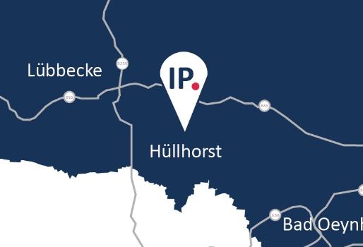 Anfahrt Karte IP Zeitarbeit Standort Hüllhorst