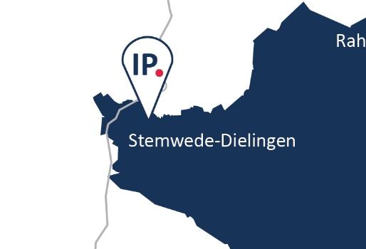 Anfahrt Karte IP Zeitarbeit Standort Stemwede-Dielingen